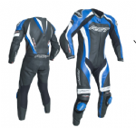 RST Tractech Evo 3 Leather Suit 1 Piece Blue
